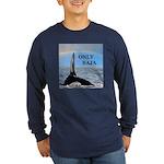ONLY BAJA RAINBOW WHALE Long Sleeve Dark T-Shirt