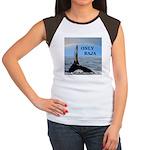 ONLY BAJA RAINBOW WHALE Women's Cap Sleeve T-Shirt