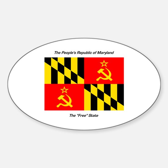 People's Republic of Maryland Oval Decal
