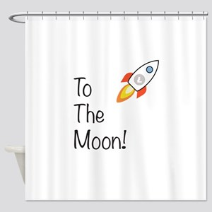 Litecoin - To The Moon! Shower Curtain