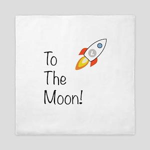 Litecoin - To The Moon! Queen Duvet