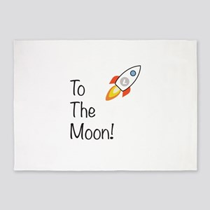 Litecoin - To The Moon! 5'x7'Area Rug