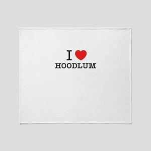 I Love HOODLUM Throw Blanket