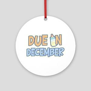 Due In December Boy Ornament (Round)