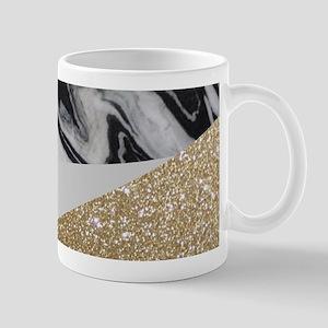 Geometric gold glitter marble Mugs