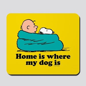 Snoopy - Home is where my dog is Full Bl Mousepad