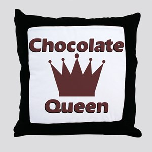 Chocolate Queen Throw Pillow