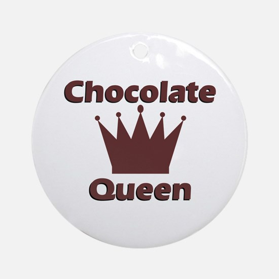 Chocolate Queen Ornament (Round)
