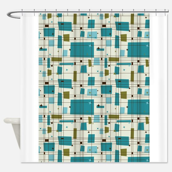 Funny Retro Shower Curtain