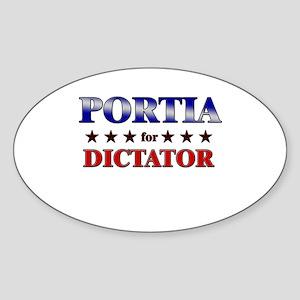 PORTIA for dictator Oval Sticker