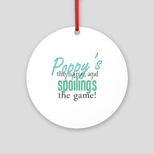 Poppy's the Name! Ornament (Round)