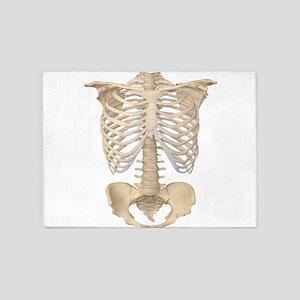 Scary halloween human skeleton 5'x7'Area Rug