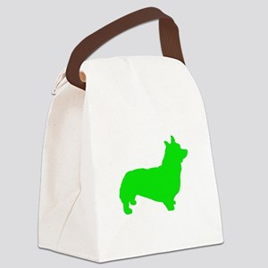 Corgi Lt Green 1C Canvas Lunch Bag