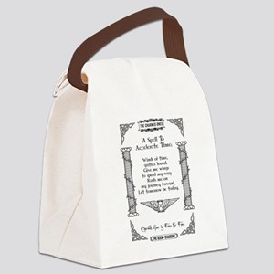 ACCELERATE TIME Canvas Lunch Bag