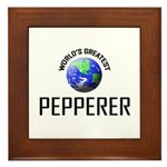 World's Greatest PEPPERER Framed Tile