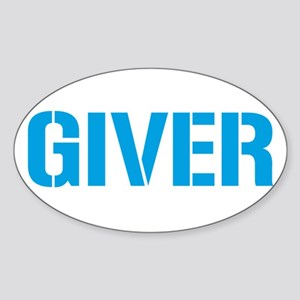 Giver Oval Sticker