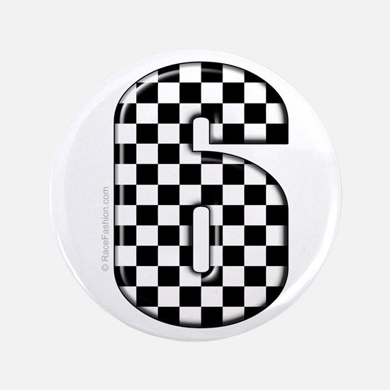 "checkered number #6 3.5"" Button"
