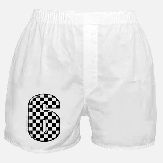 checkered number #6 Boxer Shorts