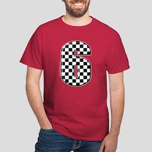 checkered number #6 Dark T-Shirt