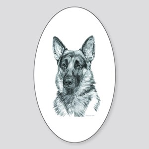German Shepherd Oval Sticker