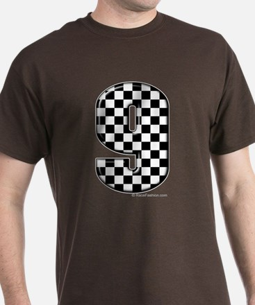 checkered number 9 T-Shirt