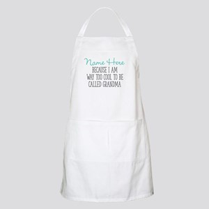 Too Cool To Be Called Grandma Personal Light Apron