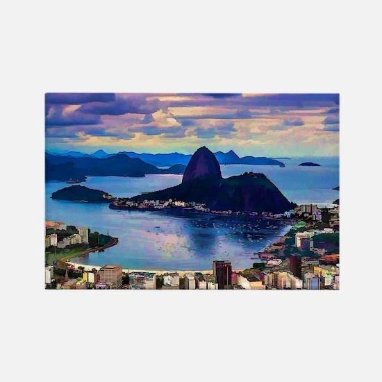 Funny Brazil Rectangle Magnet