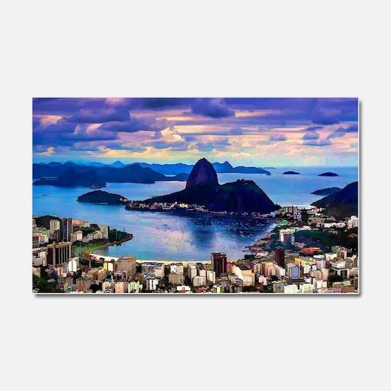 Cute Brazil Car Magnet 20 x 12