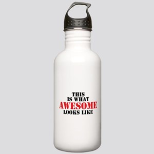 This is what AWESOME looks like Water Bottle