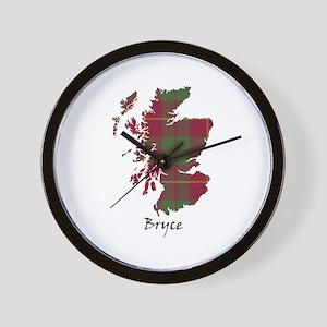 Map - Bryce Wall Clock