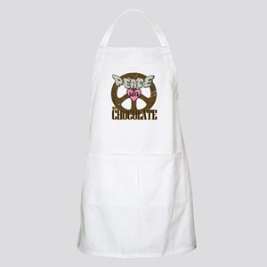 Peace Love and Chocolate BBQ Apron