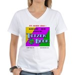 Mardi Gras Women's V-Neck T-Shirt