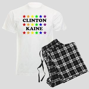 Clinton Kaine LGBT Stars Men's Light Pajamas
