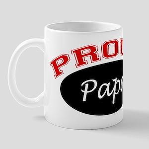 Proud Papa (black and red) Mug