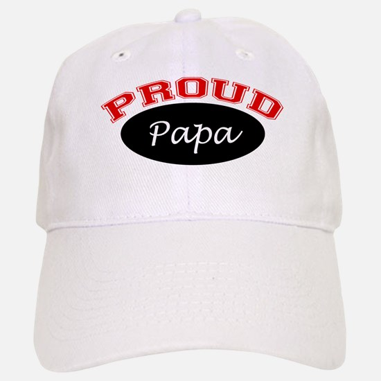 Proud Papa (black and red) Cap