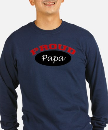 Proud Papa (black and red) T