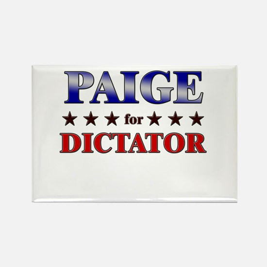 PAIGE for dictator Rectangle Magnet