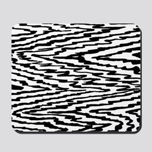 Black and White Abstract Pattern Mousepad