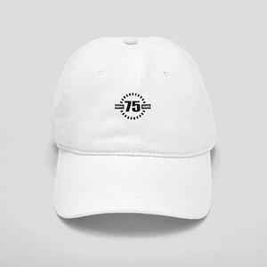 Happy 75 Years Birthday Designs Cap