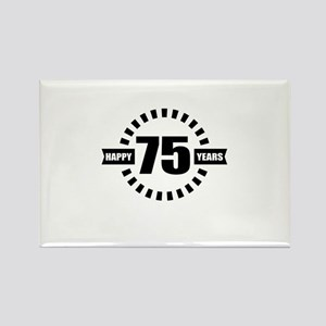 Happy 75 Years Birthday Designs Rectangle Magnet