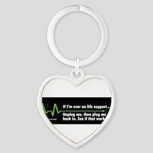 Life Support Bumper Sticker Keychains