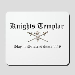 Knights Templar Slaying Sarac Mousepad