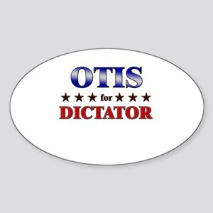 OTIS for dictator Oval Sticker