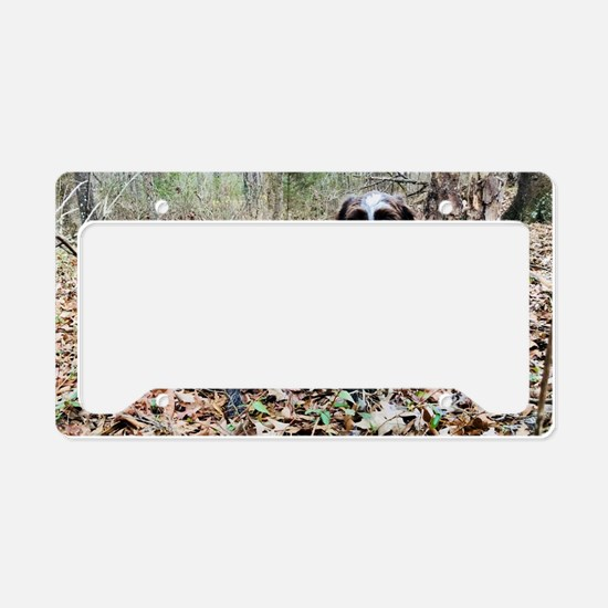 Cute Hunting dog License Plate Holder