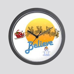 I Believe In Santa Claus Wall Clock