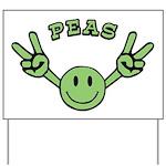 Peas Yard Sign