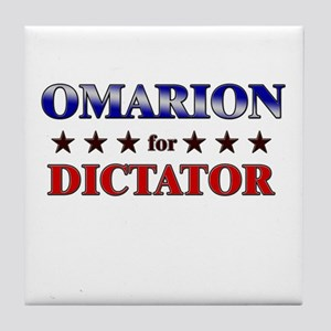 OMARION for dictator Tile Coaster