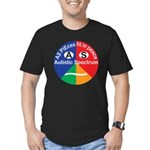 Autistic Spectrum logo Men's Fitted T-Shirt (dark)