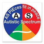 Autistic Spectrum logo Square Car Magnet 3