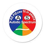 Autistic Spectrum logo Round Car Magnet